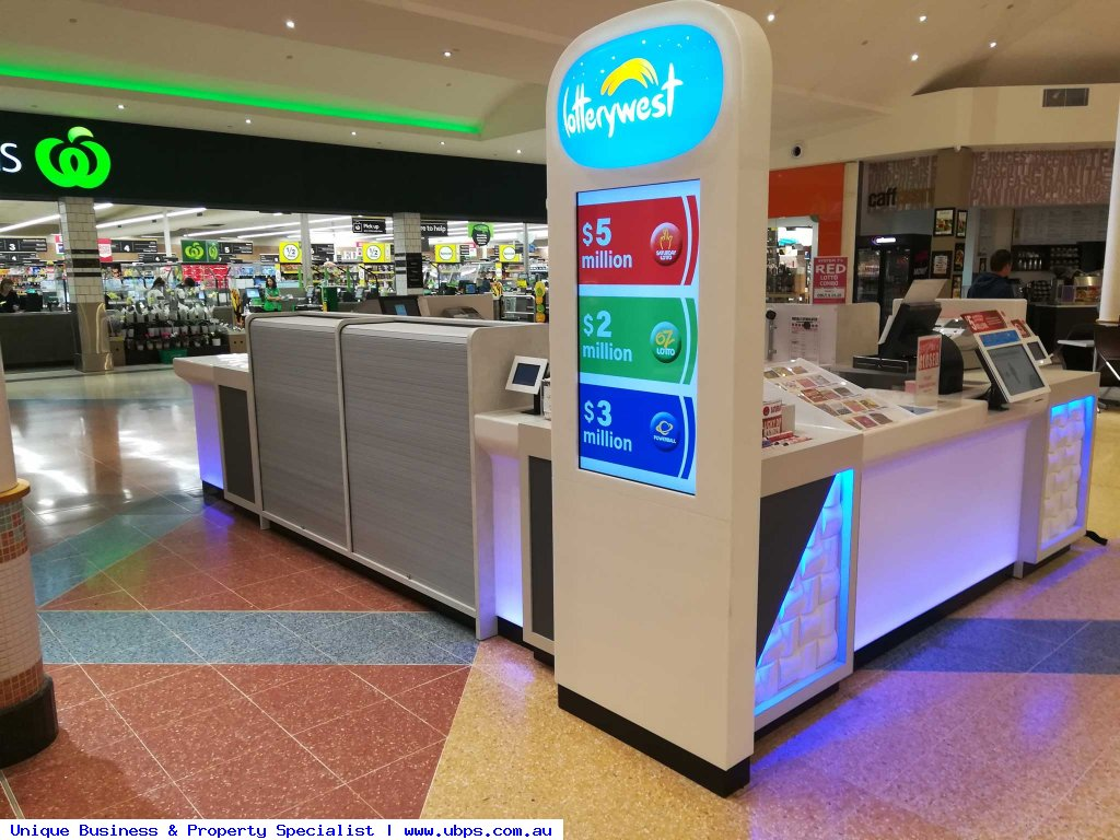 Lotto kiosk with WOW factor
